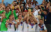 Germany players celebrate winning the 2014 FIFA World Cup