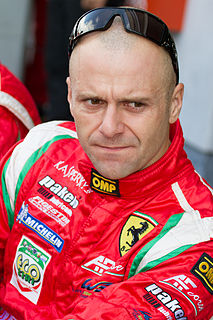 Gianmaria Bruni Formula One and sportscar racing driver, three-time winner of the FIA World Endurance Cup for GT Drivers