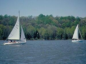Gifford Pinchot State Park - Sailing on Pinchot Lake