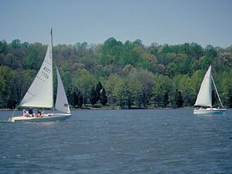 Gifford Pinchot State Park - Sailing on Pinchot Lake