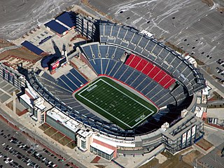Gillette Stadium stadium located in Foxborough, Massachusetts, home of the New England Patriots and the New England Revolution