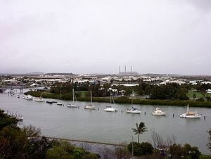 Gladstone, Queensland - Auckland Inlet, with the Power House in the background, 2005
