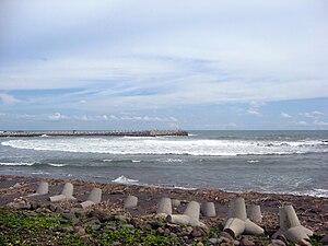 Kulon Progo Regency - Glagah Beach, one of the black sand beaches in Kulon Progo regency.