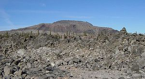 Obsidian - Glass Mountain, a large obsidian flow at Medicine Lake Volcano