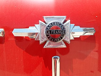 American LaFrance - Emblem of the historic 1954 American La France-Foamite 700 Series (California Historical Vehicle 622S).