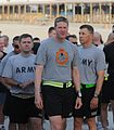 Going bald for UK cancer research at Kandahar Airfield, Afghanistan DVIDS396195.jpg