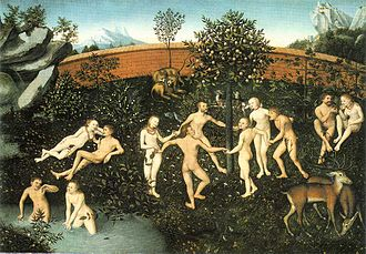 Golden age (metaphor) - The Golden Age by Lucas Cranach the Elder, 1530