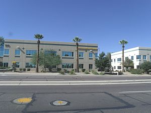 Goodyear, Arizona - Modern Goodyear City Hall building located at 190 N Litchfield Road.