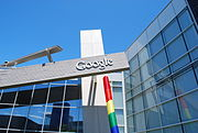An image of Google's corporate headquarters.