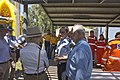 Governor-General of Australia, Quentin Bryce speaks with SES Murrumbidgee controller James McTavish and the Mayor of Wagga Wagga Rod Kendall.jpg