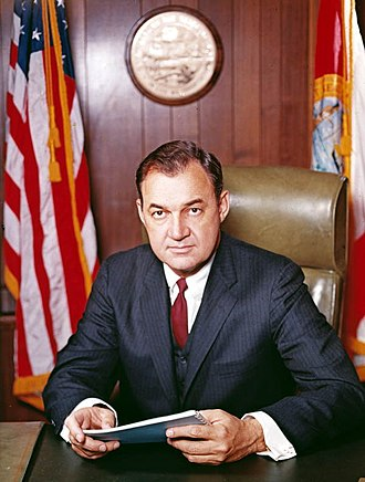 Claude R. Kirk Jr. - Official portrait of Governor Claude R. Kirk, January 1967