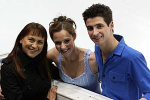 Marina Zueva - Zueva with former students Tessa Virtue and Scott Moir