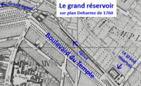 Grand réservoir sur plan Deharme de 1760.png
