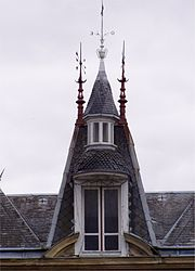 A steeple on a house in Les Grands-Chézeaux