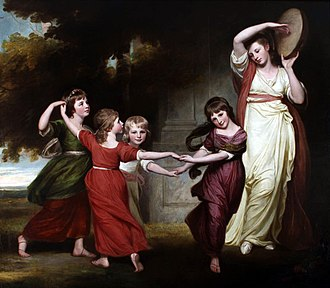 George Romney (painter) - The children of Granville Leveson-Gower, 1st Marquess of Stafford, 1776–7, Abbot Hall Art Gallery, Kendal.
