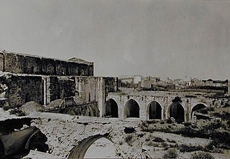 Great Mosque of Gaza - An exterior view of the mosque in the early 20th century, before renovation
