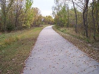 Great Western Trail (Iowa) - The Great Western Trail south of Cumming in northwestern Warren County