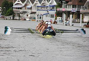 Green Lake Crew Junior Men's 8 racing at the 2...
