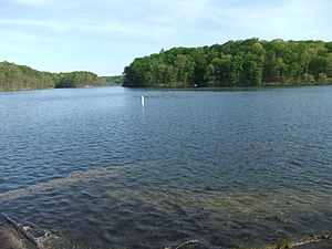 Bloomington, Indiana - Griffy Lake, once the central source of drinking water for the city.