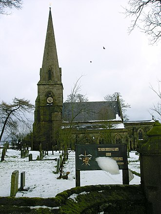 Grindon, Staffordshire - Image: Grindon Church Snow 1