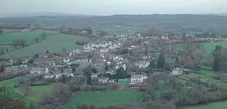 Grosmont, Monmouthshire - Grosmont from the south east