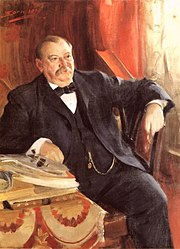 Oil painting of Grover Cleveland, painted in 1899 by Anders Zorn.