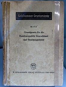 Besatzungsstatut Deutschland