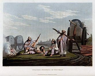 Emeric Essex Vidal - Image: Guachos (Rustics) of Tucuman Emeric Essex Vidal Picturesque illustrations of Buenos Ayres and Monte Video (1820)