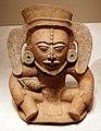 Guatemala, maya, parte superiore di un contenitore frammentario, con divinità del cacao, 600-900 dc.jpg