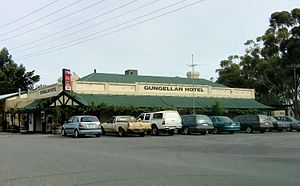 "McLeod's Daughters - A hotel in Freeling, is painted as the ""Gungellan Hotel"" for a set in McLeod's Daughters."