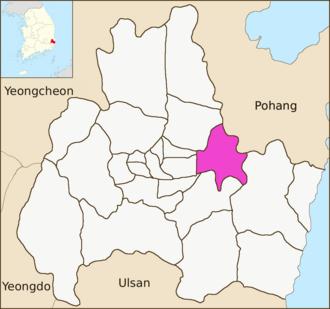 Bodeok-dong - Image: Gyeongju map Bodeok dong 01