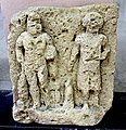 Gypsum relief of Hercules and an unidentified man. From Hatra, Iraq. 2nd-3rd century CE. Sulaymaniyah Museum, Iraq.jpg
