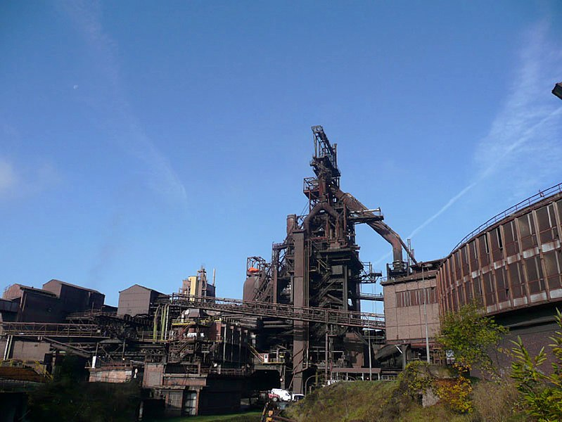 Blast furnace HF6 of Seraing, Belgium, in 2007.