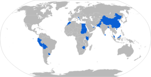 HJ-8 - Map with HJ-8 operators in blue