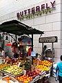 HK Central Butterfly on 122 Wellington Street Graham Street name sign n Fruit stall market Nov-2012.JPG