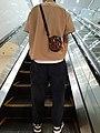 HK SW Sheung Wan Shun Tak Centre escalator visitor male fashion clothing May 2021 SS2.jpg