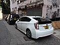 HK Sheung Wan 上環新街 New Street white vehicle carparking September 2019 SSG 01.jpg