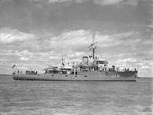 HMAS Bunbury in February 1946
