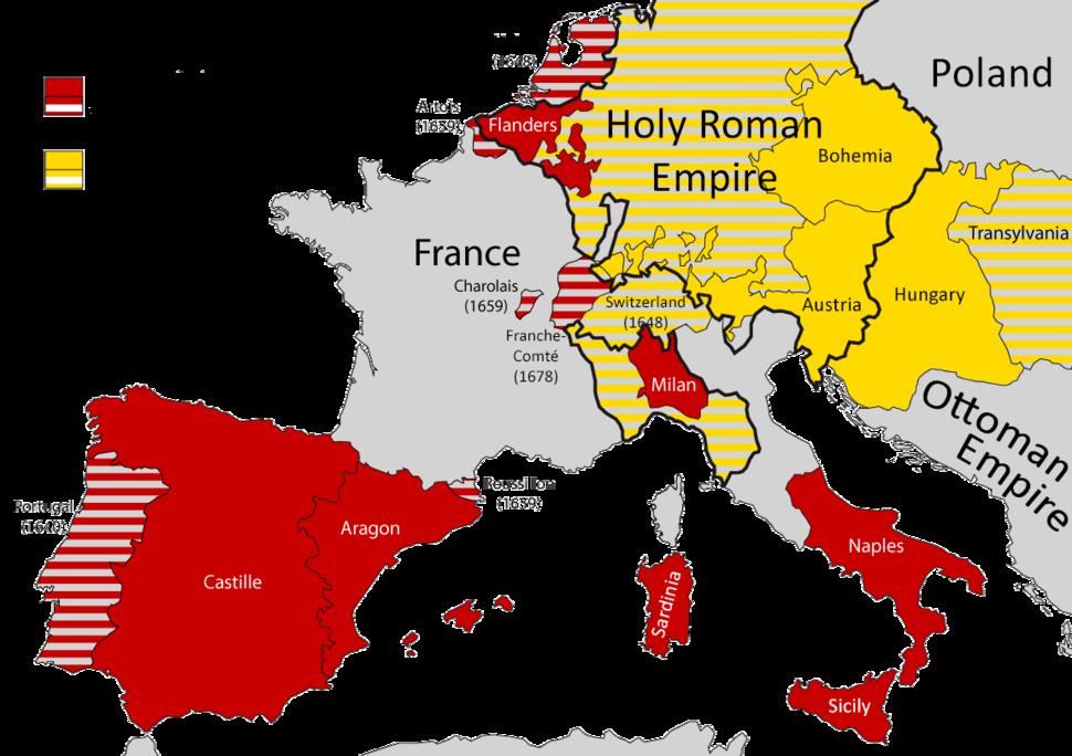 Habsburg dominions 1700