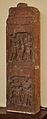 Hairstyle Scene - Door Jamb Carved Story of Nand and Sundari-Depicting in Saundarananda Book - Circa 2nd Century CE - Gurgaon - ACCN 12-186 - Government Museum - Mathura 2013-02-23 5819.JPG