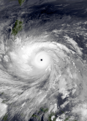 Meteorological history of Typhoon Haiyan - Typhoon Haiyan at peak intensity on November 7