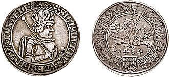 Sigismund, Archduke of Austria - A half guldengroschen from 1484.