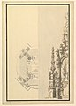 Half Plan and Half Elevation for a Catafalque with Royal Crown Surmounting the Casket MET DP820115.jpg