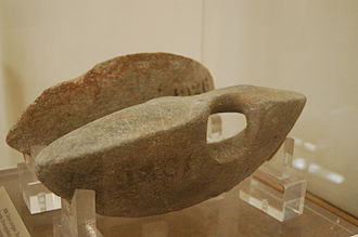 Dumbbell - Dumbbells (halteres) used in athletic games in ancient Greece, National Archaeological Museum, Athens.