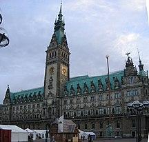Αμβούργο-Ιστορία-Hamburg Rathaus Panorama