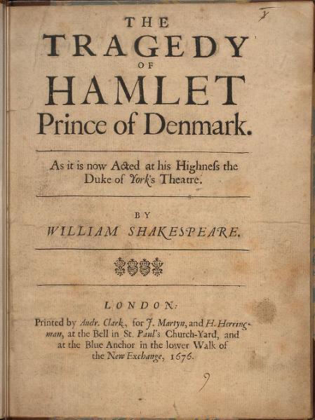 File:Hamlet, Shakespeare, 1676.djvu