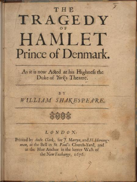 an analysis of the character of hamlet in the play hamlet by william shakespeare What qualities make hamlet the greatest character ever created  he is  reflective and pensive, and we see this throughout the play as hamlet delays the .