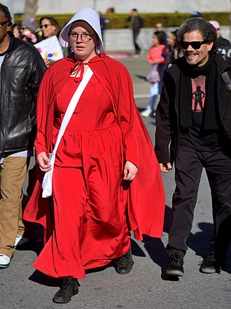 Margaret Atwood - A member of the political action group The Handmaid's Coalition.