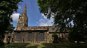 St Mary's Church, Handsworth, Sheffield - The church from the south