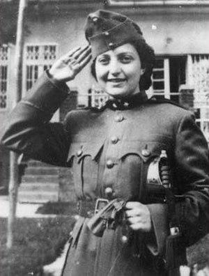 Jewish Parachutists of Mandate Palestine - Hannah Szenes in a Hungarian army uniform as a Purim costume